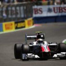 Liuzzi durante la clasificación del GP de Europa 2011