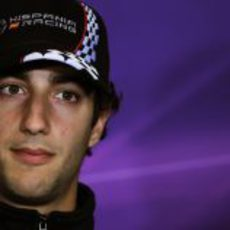 Ricciardo en la primera rueda de prensa de la FIA en Silverstone