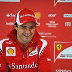 Felipe Massa está muy feliz en Silverstone
