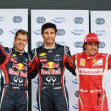 Webber, Vettel y Alonso saldrán los tres primeros en el GP de Gran Bretana 2011