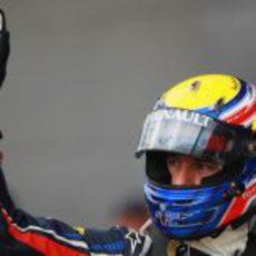 Mark Webber se lleva la 'pole' en el GP de Gran Bretaña 2011