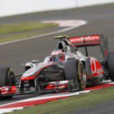 Jenson Button en la clasificación de Silverstone