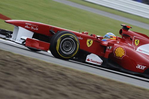 Fernando Alonso en la clasificación del GP de Gran Bretaña 2011