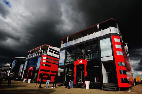 El 'motorhome' de Ferrari en Silverstone 2011