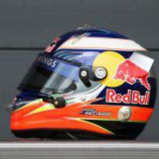 El casco de Ricciardo en el GP de Gran Bretaña 2011