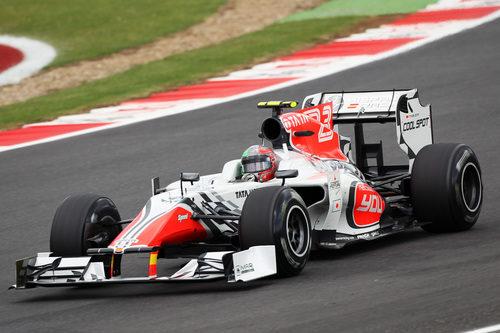Liuzzi con los neumáticos duros en el GP de Gran Bretaña 2011