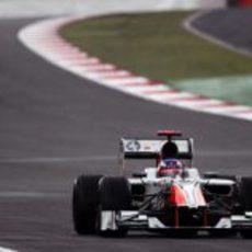 Ricciardo estrenándose en clasificación en Gran Bretaña 2011
