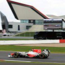 Ricciardo consiguió ver la bandera de cuadros en Gran Bretaña 2011