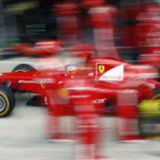 Parada en boxes para Alonso en el GP de Gran Bretaña 2011