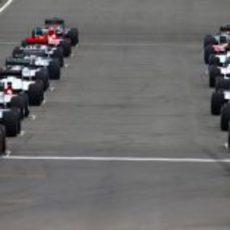 Parrilla de salida del GP de Gran Bretaña 2011