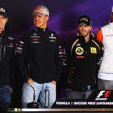 Los seis pilotos alemanes de la parrilla de la F1 2011
