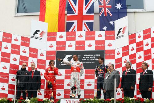 El podio del GP de Alemania 2011