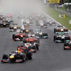 Salida del GP de Hungría 2011