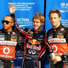 'Pole position' para Sebastian Vettel en el GP de Italia 2011, con los McLaren justo detrás