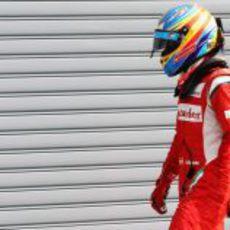 Fernando Alonso decepcionado tras la clasificación del GP de Italia 2011
