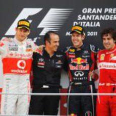 Victoria para Vettel, con Button 2º y Alonso 3º en el GP de Italia 2011
