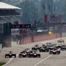 Salida del GP de Italia 2011