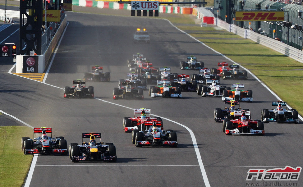 Salida del GP de Japón 2011