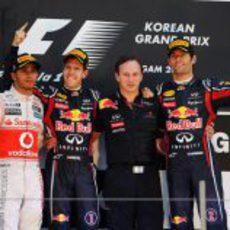 Vettel 1º, Hamilton 2º y Webber 3º en el GP de Corea 2011