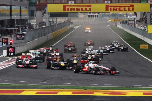 Salida del GP de Corea 2011