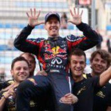 Diez victorias de Sebastian Vettel en 2011