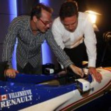 Jacques Villeneuve revisa el viejo Williams-Renault