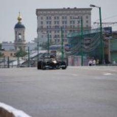 Chandhok con el T127 en la capital rusa