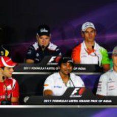 Rueda de prensa oficial de la FIA en la jornada del jueves en India