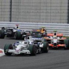 Heidfeld en el GP de Japón