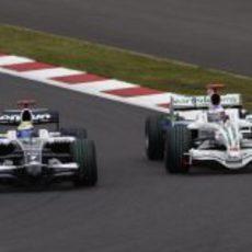 Rosberg y Button