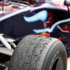 El neumatico de Vettel