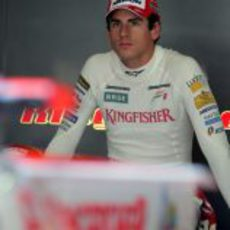 Sutil en su box