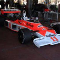 El McLaren M23 pilotado por James Hunt