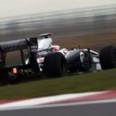 Rubens Barrichello en los libres del GP de Corea 2011