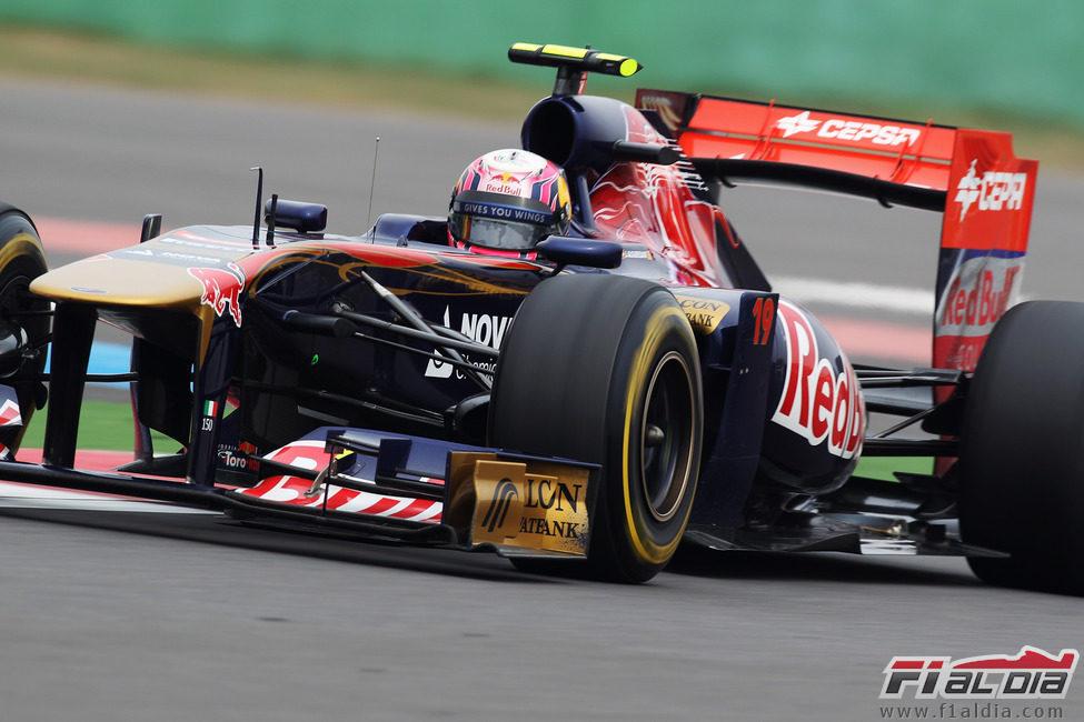 Jaime Alguersuari se quedó a las puertas de la Q3 en Corea 2011