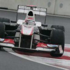Kamui Kobayashi con gomas intermedias en los libres 3 del GP de Corea 2011