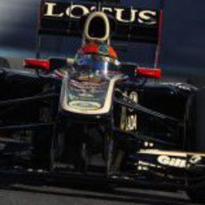 Lotus Renault GP dio la oportunidad a Romain Grosjean en Yas Marina