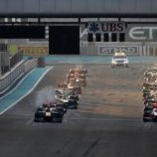 La parrilla de salida del GP de Abu Dabi 2011