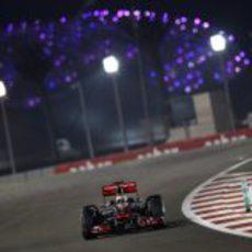 Última vuelta de la carrera para Lewis Hamilton