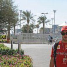 Felipe Massa llega al circuito de Yas Marina
