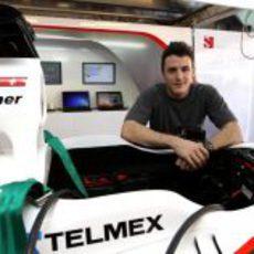 Fabio Leimer estuvo con Sauber en los test para jóvenes de Yas Marina
