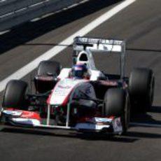 Fabio Leimer sale a pista con el C30