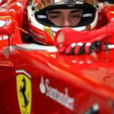 Jules Bianchi sentado en el 150º Italia en Abu Dabi