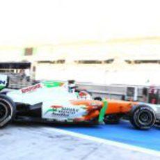 Chilton sale a pista con el VJM04 en Abu Dabi