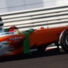 Max Chilton en Yas Marina a los mandos del Force India