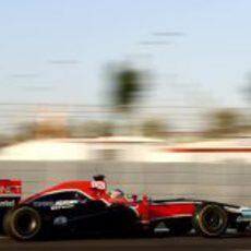 Charles Pic rueda con el Virgin en los test para jóvenes pilotos de Abu Dabi 2011