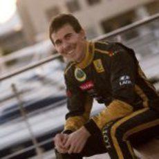 Robert Wickens con Lotus Renault GP en Abu Dabi
