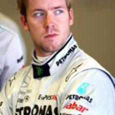 Sam Bird con Mercedes GP en Abu Dabi