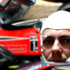 Gary Paffett, piloto probador de McLaren en los test de Yas Marina