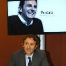 Saúl Ruiz de Marcos en la presentación de De la Rosa con HRT